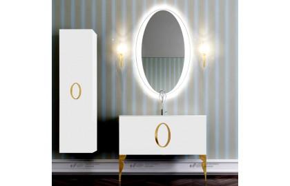 Мебель для ванной La Beaute Kantal 100 белая, фурнитура золото