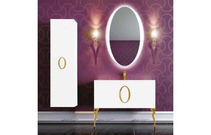 Мебель для ванной La Beaute Gard 90 белая, фурнитура золото