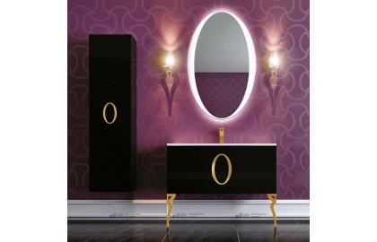 Мебель для ванной La Beaute Gard 90 черная, фурнитура золото