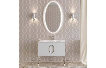 Мебель для ванной La Beaute Kantal 85 белая, фурнитура хром