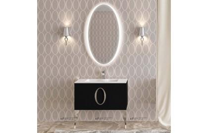 Мебель для ванной La Beaute Kantal 85 черная, фурнитура хром