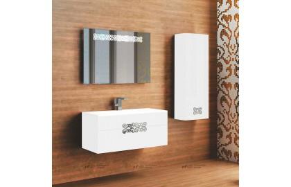 Мебель для ванной La Beaute Moselle 90 белая, фурнитура хром