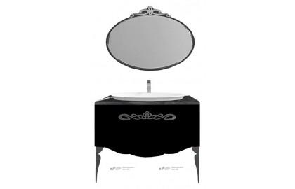 Мебель для ванной La Beaute Charante 100 черная со столешницей marchina nero, хром