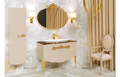 Мебель для ванной La Beaute Charante 100 бежевая со столешницей imperador dark, золото