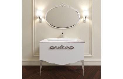 Мебель для ванной La Beaute Charante 100 белая со столешницей bianco statuaretto, хром