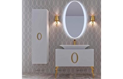 Мебель для ванной La Beaute Savoie 100 белая, фурнитура золото