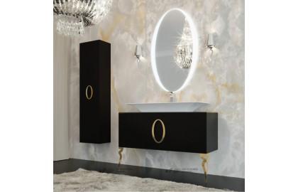Мебель для ванной La Beaute Savoie 100 черная, фурнитура золото