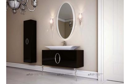 Мебель для ванной La Beaute Savoie 120 черная, фурнитура хром