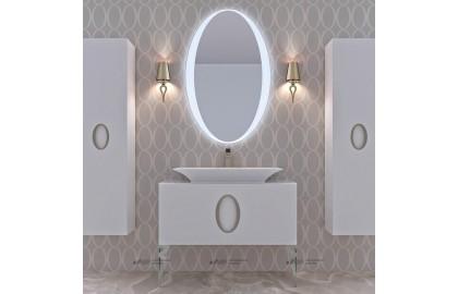 Мебель для ванной La Beaute Savoie 120 белая, фурнитура хром