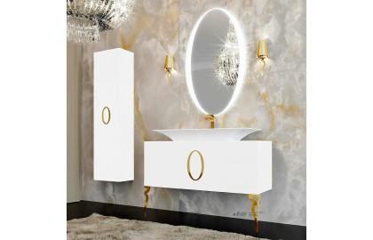 Мебель для ванной La Beaute Savoie 120 белая, фурнитура золото