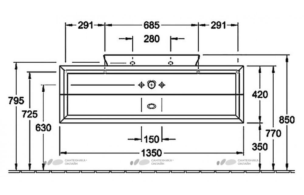 Тумба с раковиной Villeroy & Boch Subway 2.0 100 eiche graphit