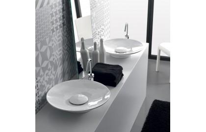Накладная керамическая раковина Hidra Ceramica Lavabi da appoggio Soul 500 A 21