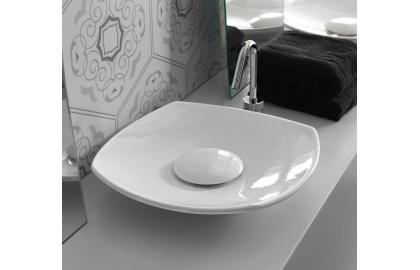 Декоративная пластина на донный клапан белая LAVABO APPOGGIO A 45
