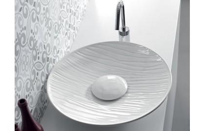 Накладная керамическая раковина Hidra Ceramica Lavabi da appoggio Soul 500 decoro rei A 24