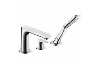 Смеситель для ванны: с одним рычагом, 2 потребителя, хром Hansgrohe PuraVida 15432000